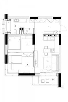 Два современных домах с номерами для маленьких детей [с планами этажей]