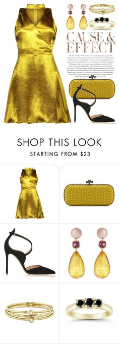 """Choker Dresses 3097"" by boxthoughts ❤ liked on Polyvore featuring Envi:, Bottega Veneta, Gianvito Rossi, Brigid Blanco, Jennifer Meyer Jewelry and chokerdress"