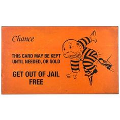"""Here's your chance to get out of the cell of overdone, outdated wall decor. Orange is certainly the new black withOrange & Black Get Out of Jail Free MDF Sign.    This sign features an enlarged version of a traditional chance card from the game of Monopoly. Hang it in your game room, office, home theater, and more!        Dimensions:      Length: 10 5/16""""    Width: 18""""    Thickness: 1/2""""          Hanging Hardware:      2 - Sawtooth ..."""