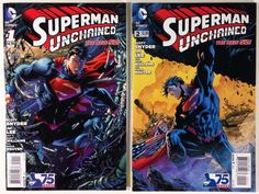 Superman Unchained #s 1 and 2 The New 52 DC Comic Books - NM- 9.2 WP High Grade Lot!