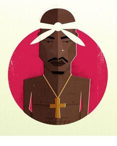 6 2 Pac Arte Hip Hop, Hip Hop Art, Tupac Art, Estilo Hip Hop, Visual And Performing Arts, Hip Hop Dance, Hip Hop Fashion, Freelance Illustrator, Minimalist Poster