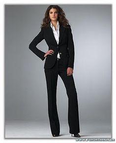 Business attire - black women's suit.