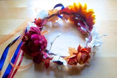 Flower Crown DIY: How to Make a Flower Crown - Sara Laughed