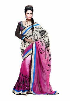 #Fabdealdotcom #Women #Indian #Designer #Wear #Embroidered #Saree #Pink & #Cream Fabdeal, http://www.amazon.co.uk/dp/B00GAQAD0A/ref=cm_sw_r_pi_dp_1V3rtb1G8F8Z9