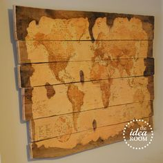 Pallets : DIY Wood Pallet Map Tutorial