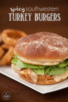 These moist and delicious grilled Spicy Southwestern Turkey Burgers are packed with flavor and are a healthier alternative to traditional beef burgers.