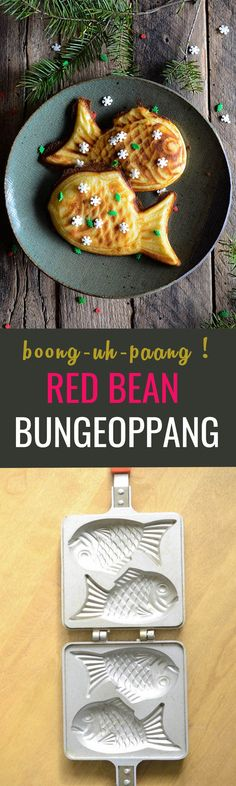 Bungeoppang is a fish shaped bread but don't worry, it tastes nothing like fish. It has a sweet filling inside :)