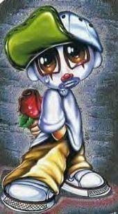 sad clown beautiful cartoon picture and wallpaper