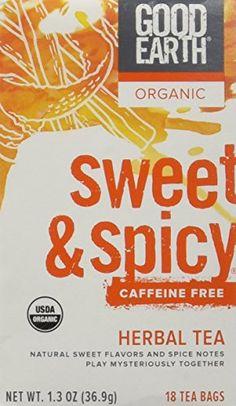 Good Earth Teas Organic Sweet And Spicy Caffeine Free Herbal 18 Tea Bags 4 Count