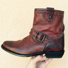 """Selling this """"Brand New Distressed Frye Wyatt Cowboy Ankle Boots"""" in my Poshmark closet! My username is: acapr220. #shopmycloset #poshmark #fashion #shopping #style #forsale #Frye #Shoes"""
