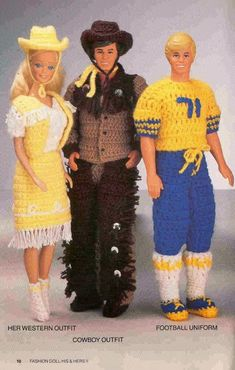CROCHET: Barbie, Fashion Doll, His & Hers II pattern  http://knits4kids.com/collection-en/library/album-view?aid=28542