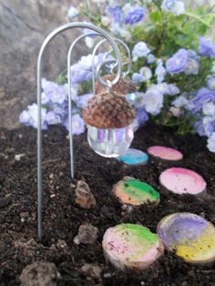 Acorn Lantern Fairy Light 1 Fairy Garden van FairyElements op Etsy