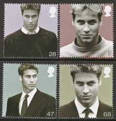 Prince William stamps---ahhhh! I have the bottom right one from my grandma Ginnie <3