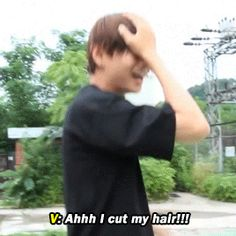 Is this where v said he almost cut his hair and ruined his whole life in the danger mv??