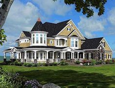 Magnificent Shingle Style Dream Home Architectural Designs--Plan Magnificent Shingle Style Victorian. Dream House Plans, House Floor Plans, My Dream Home, Dream Homes, Victorian House Plans, Victorian Homes, Victorian Farmhouse, Architecture Design, Classical Architecture