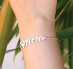 20% OFF** Signature Name Bracelet  - Handwriting Name Bracelet  - Mother's Day - Sterling Silver / 18K Gold Plated