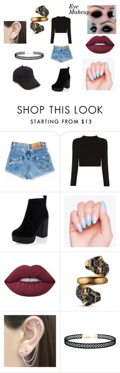 """Eun Performance Outfit #1"" by hannah-may-malone on Polyvore featuring New Look, Lime Crime, Gucci, Otis Jaxon, LULUS and rag & bone"