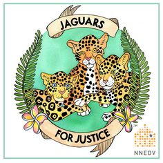 Download your own coloring page - or the entire series here: http://nnedv.org/GetInvolved #JaguarsforJustice