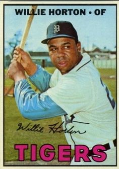 Tigers 1960's Players | Detroit Tigers outfielder, Willie Horton hit 325 home runs over an ...
