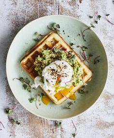 Avocado Toast, Waffles, Tacos, Breakfast, Ethnic Recipes, Food, Drink, Inspiration, Morning Coffee