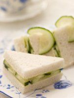 Cucumber Tea Sandwiches (personally, I prefer to use cream cheese instead of butter)