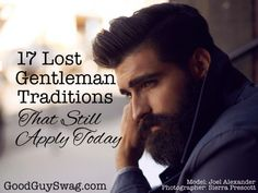 Great blog! I hope it inspires men of this generation to reclaim chivalry. After all, it is very attractive and masculine!