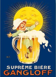 Items similar to Supreme Biere Gangloff, Vintage Beer Advertisement, antique bar sign, man cave decor, Marcellin Azolle 8 x premium poster Print on Etsy Posters Vintage, Vintage Advertising Posters, Vintage Labels, Vintage Advertisements, Vintage Ads, Vintage Prints, Beer Poster, Poster Ads, Vins Nicolas