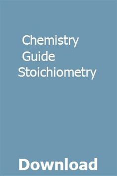8 Best Stoichiometry Chemistry images in 2017 | Chemistry classroom