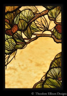 Pine needle stained glass window by Theodore Ellison