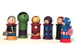 Avengers Spool Dolls