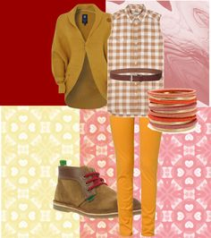 A fashion look from January 2013 featuring mustard yellow cardigan, button front top and slim jeans. Browse and shop related looks. Red Accents, Capri Pants, Shoe Bag, Polyvore, Stuff To Buy, Shopping, Collection, Design, Women