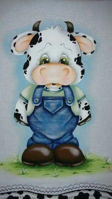 11 Moldes de vaquitas para hacer manualidades en foami y pintura ~ cositasconmesh Clipart Baby, Tole Painting Patterns, Cute Cows, Cow Art, Country Paintings, Fabric Painting, Painting Inspiration, Cute Pictures, Applique