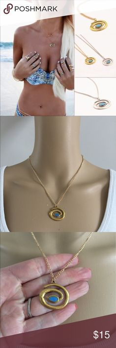 "Cute layering necklace (nwot) Very cute gold necklace for layering or by itself. Zinc alloy metal. Chain measures 18"" long with 2"" extender. Charm measures 1"". Brand new in package, Price firm unless bundled. Jewelry Necklaces"