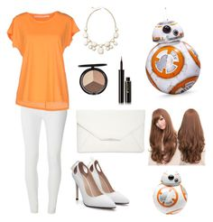"""BB-8 (made by my sister Kelly)"" by amylovesptx ❤ liked on Polyvore featuring Dorothy Perkins, Schumacher, Monet, Iman, Lancôme, Style & Co., Sankins and Zak! Designs"