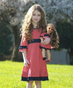 Another great find on #zulily! Red Polka Dot Celia Dress & Doll Dress by Lilli Lovebird #zulilyfinds