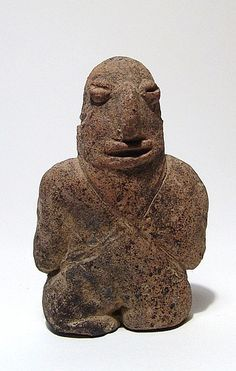 A rare early Colima solid male figure, West Mexico