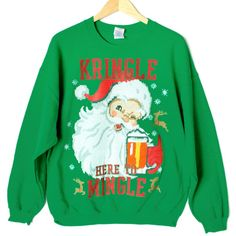 Kringle Here To Mingle Tacky Ugly Christmas Sweater Style Sweatshirt