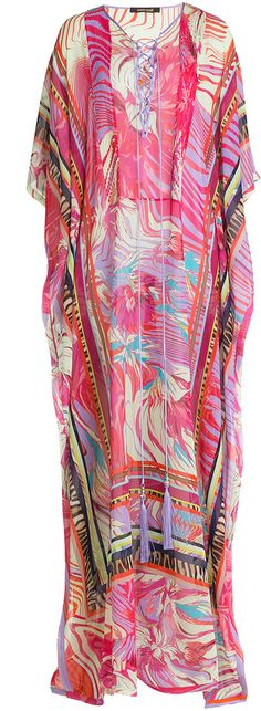 Roberto Cavalli Printed Silk Caftan