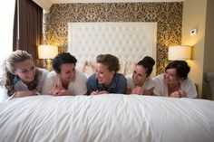 Bride with her bridesmaids :: photography by www.hellogorgeousphotography.net :: planning by www.kylemichelleweddings.com