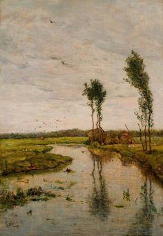 Paul Joseph Constantin Gabriël - Landschap met sloot