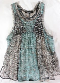 "~~~ INSANELY SPECIAL ~~~ RARRRE ISABEL MARANT SILK METALLIC ""STRIPED"" TOP ~ 1/S #IsabelMarant #TankCami #Casual"