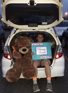 Cute giant teddy bear promposal