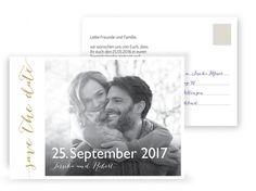 Save the Date Karte Hochzeit XOXO