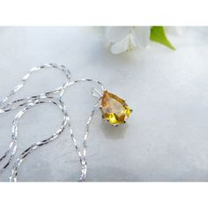 November birthstone necklace, Mother's Day necklace, Golden Topaz... ($40) via Polyvore featuring jewelry, necklaces, pear necklace, birthday necklace, wrap necklace, sterling silver chain necklace and layered chain necklace