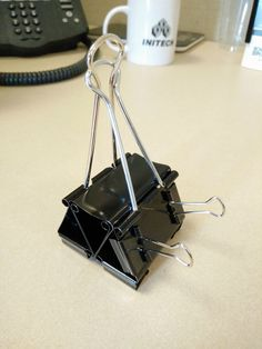 DIY - Binder Clip Cell Phone Stand (with room for USB!)