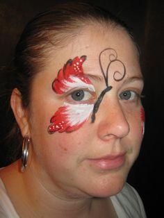 Canada Day Butterfly Butterfly Face Paint, Canada Canada, Face Painting Designs, Activity Ideas, Pj, Activities, Projects, Face Paintings, Hair