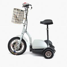 36V 350W Three Wheel Electric Scooter Motorized Scooter  Ride Standing Up or Siting Down Without Battery