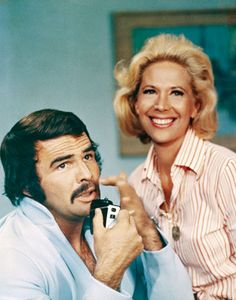 Dinah Shore with Burt Reynolds in the 1973 TV special Dinah Shore: In Search of the Ideal Man. The two were roman- tically linked for some time.