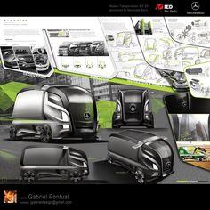 Mercedes-Benz Struktur Accelo Concept 2020 on Behance Mercedes Benz Trucks, Future Trucks, Futuristic Cars, Futuristic Vehicles, Presentation Layout, Truck Design, Conceptual Design, Transportation Design, Custom Trucks