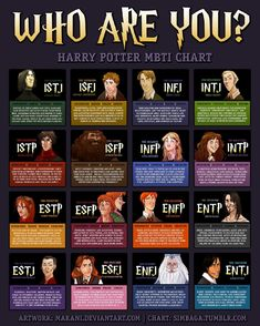 INFJ harry potter personality type chart